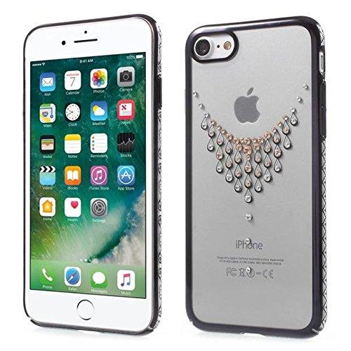 Cas diamant PC pour iPhone 7 4.7 Bord d'or / Belle plume h