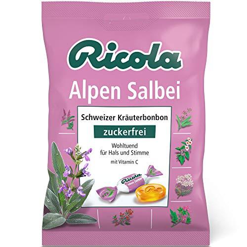 Ricola Alpen Salbei Schweizer Kräuterbonbon ohne Zucker, 75 g -