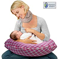 Kradyl Kroft 5in1 Baby Feeding Pillow with Detachable Cover (Happy Pink)