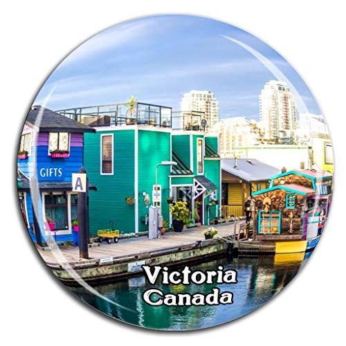 Weekino Inner Harbor Victoria Kanada Kühlschrankmagnet 3D Kristallglas Tourist City Travel Souvenir Collection Geschenk Strong Refrigerator Sticker