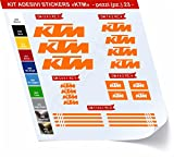 Primastickerslab KTM_Kit 1 - Juego de adhesivos para bicicleta, 23 unidades, diferentes colores, código 0442, Arancione cod. 035