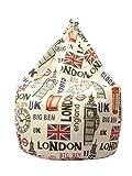13Casa Londra A9 - Poltrona sacco. Dim: 70x70x110 h cm. Col: Fantasia. Mat: Poliestere.