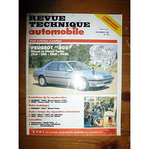 RTA0533 - REVUE TECHNIQUE AUTOMOBILE PEUGEOT 605 Diesel et Turbo-Diesel SLD - SRD - SRdT - SVdT