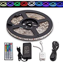 5m, 300SMD RGB tira LED Klebriges Set LED resistente agua con IR dispositivo de control, receptor, fuente de alimentación y cable de alimentación