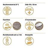 Beurer HD 75 Wärmedecke, kuschelige Heizdecke mit 6 Temperaturstufen, elektronische Temperaturregelung, 180 x 130 cm - 2