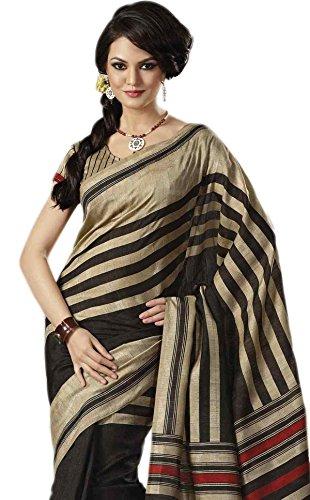 Sudarshan Silks -  Sari  - stile impero - Donna grigio Taglia unica