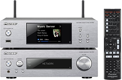 Pioneer XN-P02-S Kompaktanlage ohne Lautsprecher(WiFi, Bluetooth) inkl. Stereo-Receiver/Netzwerk Player/Direct Energy HD Endstufen silber
