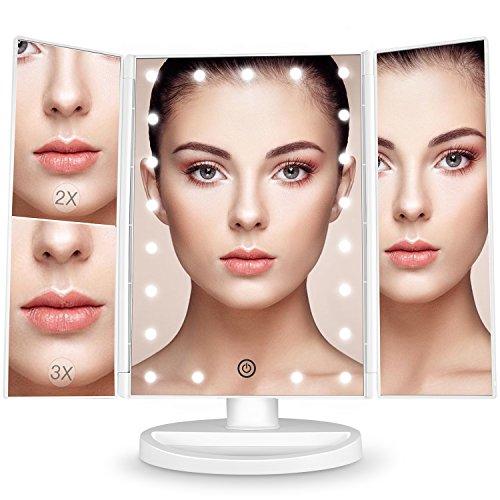 Espejo Maquillaje con Luz,[Regalo de San Valentín] BESTOPE 21 LEDS...
