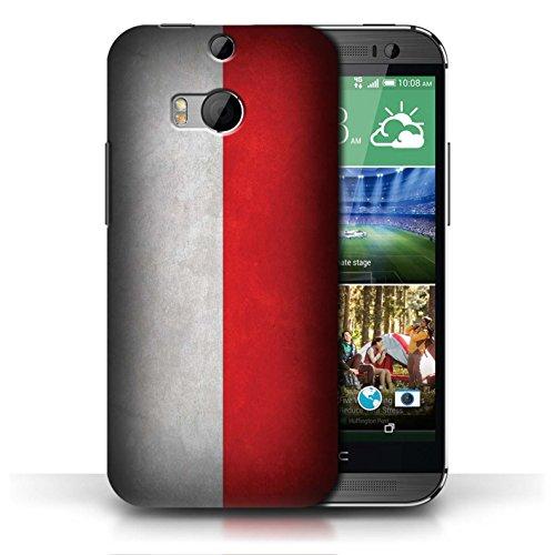 Coque en plastique pour HTC One/1 M8 Collection Drapeau - Mecico/Mecican Pologne/polonais