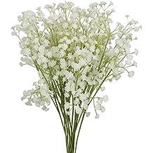 xiuer 10pcs Bebés respirar flores 60cm flores artificiales Gypsophila ramilletes Real Touch para boda Home DIY decoración