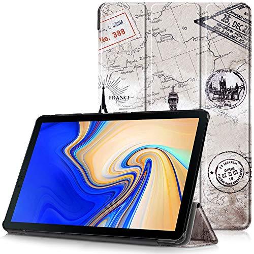 Samsung Galaxy Tab S4 10.5 Cover - Custodia Ultra Sottile e Leggero con Coperture da Supporto e Funzione Auto Sveglia/Sonno per Samsung Galaxy Tab S4 SM-T830 / T835 Tablet da 10.5', Mappa Torre