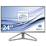 Philips 245C7QJSB Monitor 24' LED IPS Full HD, 1920 x 1080, Ultra Wide Color e Design Super Sottile, 5 ms, 3 Side Frameless, Flicker Free, HDMI, Display Port, VGA, Nero/Argento