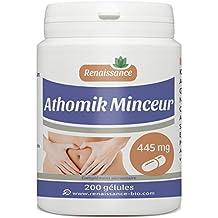Athomik Minceur - 445 mg - 200 gélules de plantes, Guarana, Nopal, Konjac...