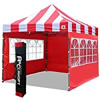 ABCCANOPY Gazebo 3x3m Fully Waterproof Heavy Duty Pop Up Gazebo With 4Pcs Walls + Carry Bag With Wheels 2