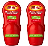 2 x Deep Heat Muscle Massage Roll-on Lotion (Herbal Fragrance)