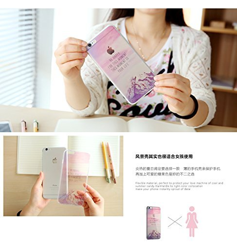 iPhone 4 Hülle, iPhone 4s Hülle, Vandot 3D Landschaft iPhone 4 4s Schutzhülle Transparent Muster Handyhülle Thin Pattern TPU Silikon Weich Malerei Passgenaues Telefonkasten Abdeckung Case Cover Handy  Color 2