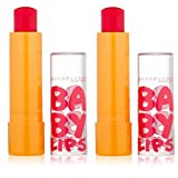 LOT OF 2!! Maybelline Baby Lips #15 Cherry Me Moisturizing Lip Balm by Baby Lips