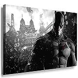Batman Muskeln Anzug Leinwandbild / LaraArt Bilder / Mehrfarbig + Kunstdruck f15 Wandbild 40 x 30 cm