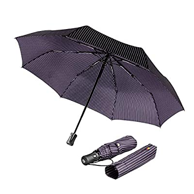 boy® Automatic Umbrella Compact, Travel Umbrella Windproof Waterproof, Extra Strong Umbrella with Reinforced Windproof Frame, Portable Umbrella for Women and Men from boy