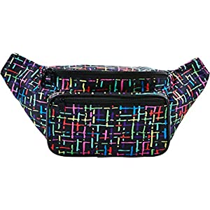 51SdvEQxRoL. SS300  - SoJourner Bags Fanny Pack - Classic Solid Bright Colors One Size Rainbow (Multi-Color)