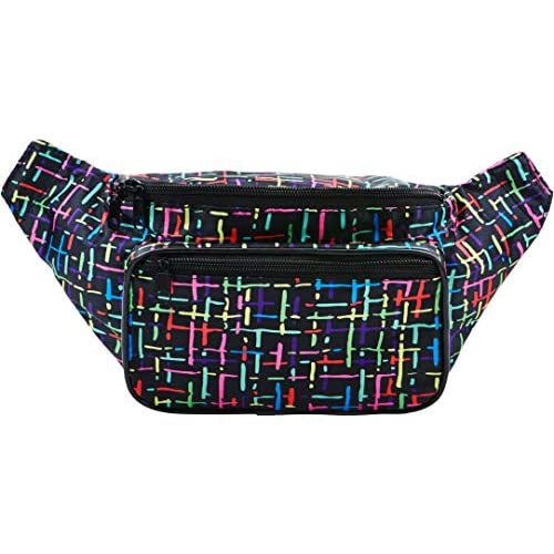 51SdvEQxRoL. SS500  - SoJourner Bags Fanny Pack - Classic Solid Bright Colors One Size Rainbow (Multi-Color)