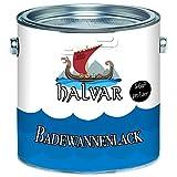 Halvar 2K Badewannenbeschichtung skandinavischer Badewannenlack für Keramik Emaille Acryl Fliesen Badewanne Porzellan Stahl (kein Edelstahl) Fliesen Kunststoff GFK hochwertiger Schutz! (5 kg, Weiß)