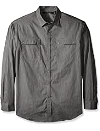 Sean John Men's Big and Tall Long Sleeve Printed Pocket Shirt