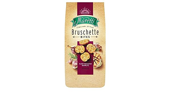 Maretti slow roasted garlic bruschetta bites 150g: amazon.co.uk: grocery