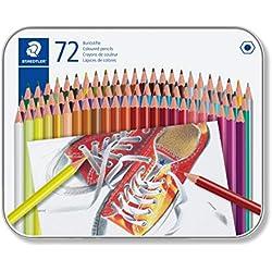 Kredki olówkowe szesciokatne 72 kolory w metalowym pudelku