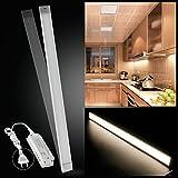 LED Unterbauleuchte Lichtleiste LED Küchenleuchte Küchenlampe 12W/90cm Warmweiß mit Transformator 1200LM Handbewegung-ON