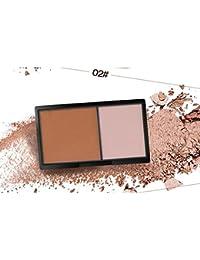 Sixcup 1Pcs Technic Define & Highlight Duo Face Contour Bronzer & highlighter Kit in Shade - Sleek Make Up Face Contour palette Light 60g