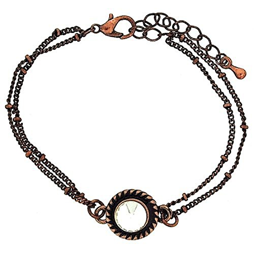 barman-strass-set-ciondolo-coppertone-doppia-catena-estensibile-bracciale