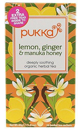 Pukka Bio-Kräutertee Zitrone, Manuka Honig-Ingwer-Geschmack 80 Sachets Honig-zitrone-ingwer