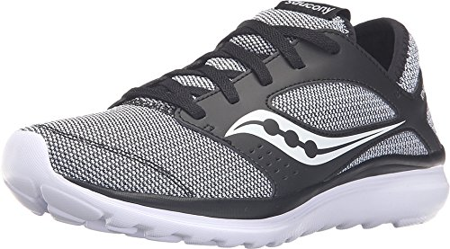 Saucony Women's Kineta Relay Road Running Shoe, Coral/Mint, 10 M US Black/white/knit