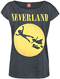 Peter Pan Neverland Seattle Camiseta Mujer Gris Oscuro