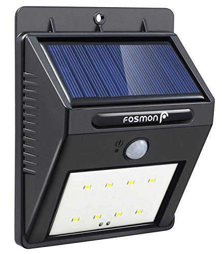 Fosmon Solarleuchten Solarlampe Sicherheits, Drahtlose Wasserdichte Außen Solar Betriebene Bewegungs Sensor Lichter Bewegungsmelder LED Wegeleuchte Außenleuchte Wandleuchte für Patio Garten Türe Flur (Wasserdicht Bewegungs-sensor-licht)