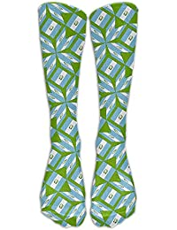 Guatemala Flag Artascope Flower Compression Socks Soccer Socks High Socks Long Socks 60cm(23.6 inch