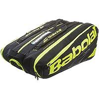 Babolat RH X 12 Pure Raquetero de Tenis, Unisex Adulto, Negro/Amarillo / Fluo, Talla Única