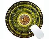 Tappetini per Mouse Rotondi Personalizzati, Puntini per Mouse arrotondati Personalizzati con Bitcoin per Soldi