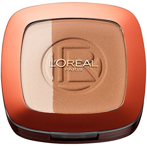 L'Oréal Paris Make Up Glam Bronze Duo Sun Powder, 101 Blonde Harmony - 2 in 1 Bronzepuder für den...