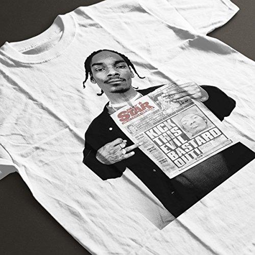 Snoop Dogg Daily Star Newspaper Women's T-Shirt white