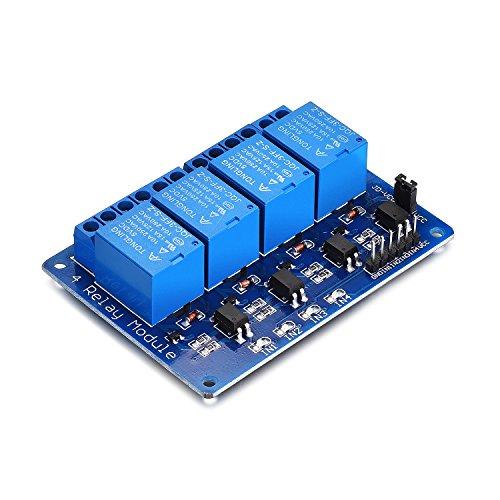 lais Modul DC5V 230V Relais Optokoppler 4 Channel Relay Relais Raspberry Pi Relais Arduino für Arduino TTL Logik PIC DSP AVR ARM Relais Modul (4 Kanal) ()