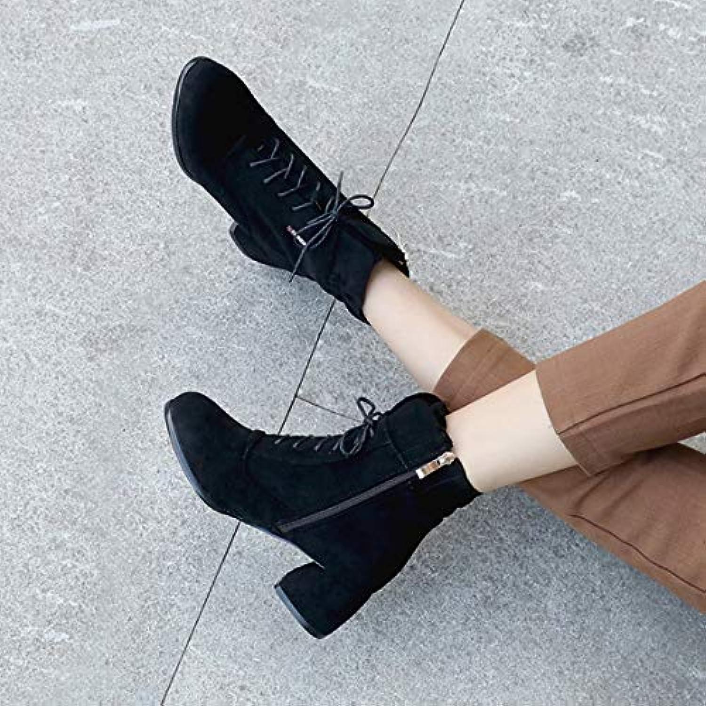 Cute girl L'Automne Et l'hiver Bottes Femme Vent Britannique Britannique Vent Martin Code Taille Bottes Courtes Femmes Zipper High... 5d6044