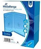 Blu-Ray Hüllen MediaRange (Blau-Transparent) doppelt 12 mm - (5er Pack)