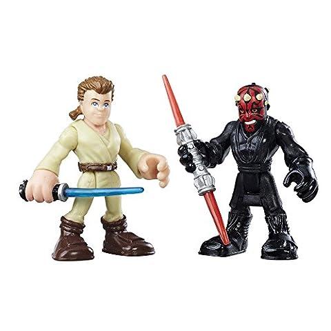 Playskool Star Wars Héros galactiques Obi-Wan Kenobi et Darth Maul Figure d'action