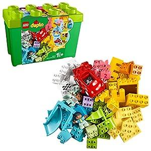 LEGO DUPLO Classic - Caja de Ladrillos Deluxe, Set de Construcción con Caja de Almacenaje, Juguete de Iniciación en LEGO, Recomendado a Partir de 18 Meses (10914)