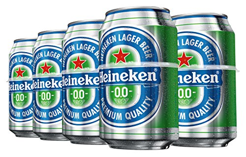 Heineken 00 Beer - Pack of 8 Cans x 330 ml - Total: 2.64 L