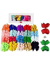 VAMEI Multicolor Niña Grosgrain Cinta Boutique Arcos De Pelo Pinzas De Cocodrilo Para Chicas