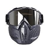 FGDFGDFEEGVD Maschere Softair Maschera per Equitazione Maschere per motociclette Maschera Locomotiva Maschera Protezione degli Occhi Campo Anti-Impatto Alpinismo Guida 7.6inx7in