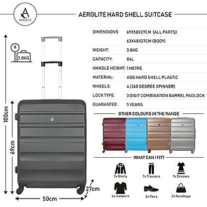 Aerolite ABS Equipaje Maleta rígida Ligera con 4 Ruedas 69cm
